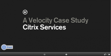 Prezi about Citrix Services Velocity project